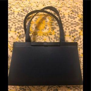 Small Elegant Satin Handbag in Navy